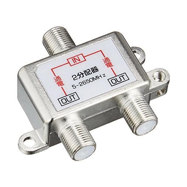 エスエスエーサービス アンテナ2分配器 地デジ/BS/CS放送対応・全端子電流通過型 STV-12S