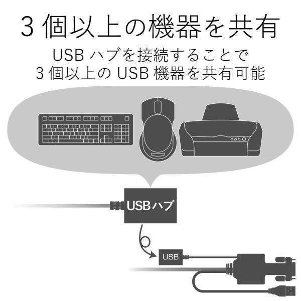 エレコム KVMスイッチ USB VGA 手元スイッチ 2台 KVM-KUSN|lucia0322|08