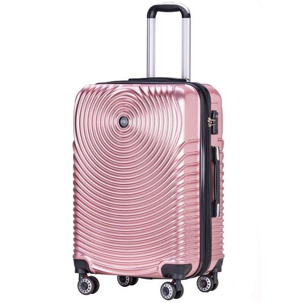 TTOバリジェリアTTOvaligeria スーツケース S機内持込 大型軽量 容量拡張 TSAロック搭載 静音 旅行用品 (S ローズゴー|lucia0322|02