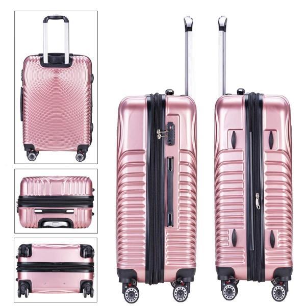 TTOバリジェリアTTOvaligeria スーツケース S機内持込 大型軽量 容量拡張 TSAロック搭載 静音 旅行用品 (S ローズゴー|lucia0322|03