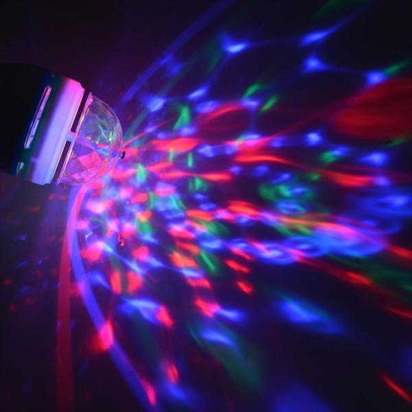 YouOKLight ミニレーザーステージ照明 カラフルミラーボールLED電球 口金直径26mm 3W RGB ステージ/ディスコ/パーティ