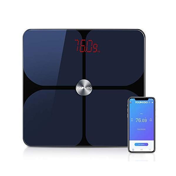 YOUNGDO 体重計 体脂肪計 体組成計 Bluetooth スマホ連動 23種類測定可能 体重/体脂肪率/体水分率/推定骨量/基礎代謝量|lucia0322|04