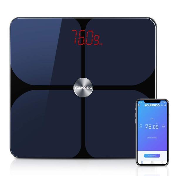 YOUNGDO 体重計 体脂肪計 体組成計 Bluetooth スマホ連動 23種類測定可能 体重/体脂肪率/体水分率/推定骨量/基礎代謝量|lucia0322|05