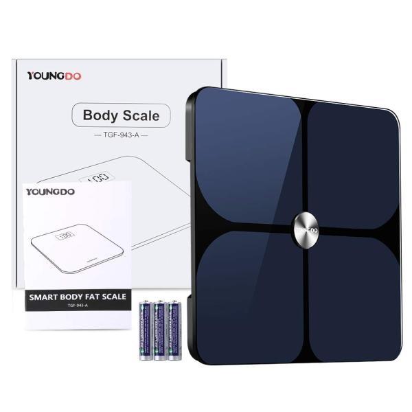 YOUNGDO 体重計 体脂肪計 体組成計 Bluetooth スマホ連動 23種類測定可能 体重/体脂肪率/体水分率/推定骨量/基礎代謝量|lucia0322|06