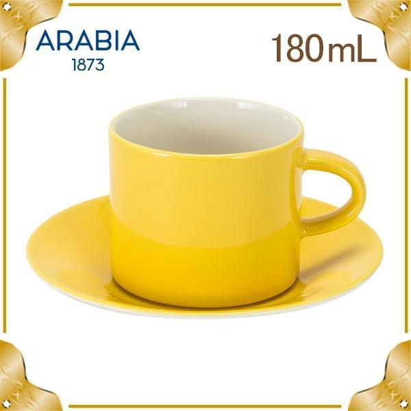 売り尽くしアラビアArabiaカラーズカップ&ソーサー180mLイエロー1023464&1023469ColorsYel