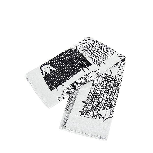 Lapuan Kankurit ラプアンカンクリ Towel タオル 48x70cm PAKAPAAT white-black ホワイトブラック 77497 ラプアン カンクリ