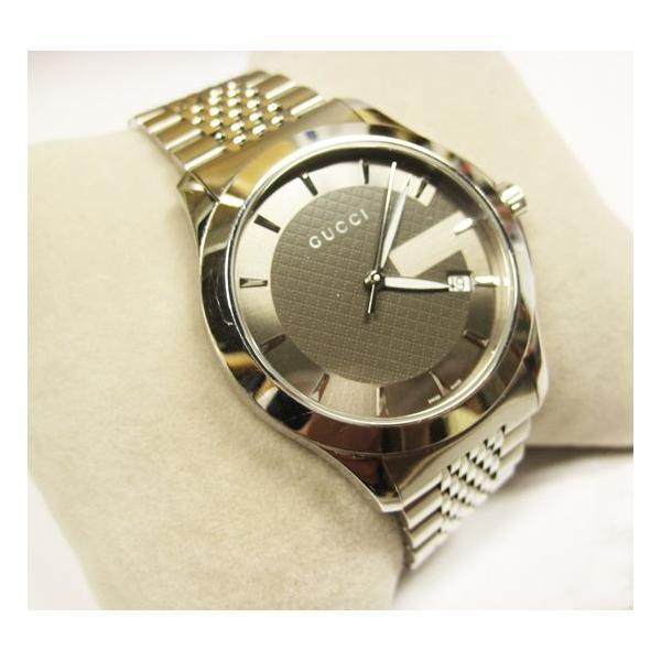 グッチ 腕時計 メンズ G-TIMELESS YA126418  ジャパン リミテッド エディション シルバー 中古 lucio