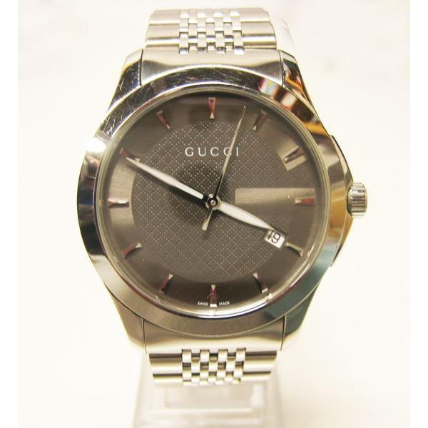 グッチ 腕時計 メンズ G-TIMELESS YA126418  ジャパン リミテッド エディション シルバー 中古 lucio 03