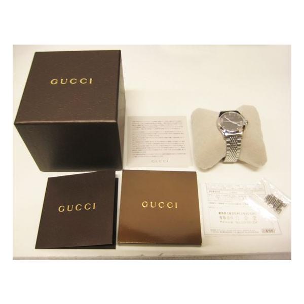 グッチ 腕時計 メンズ G-TIMELESS YA126418  ジャパン リミテッド エディション シルバー 中古 lucio 05