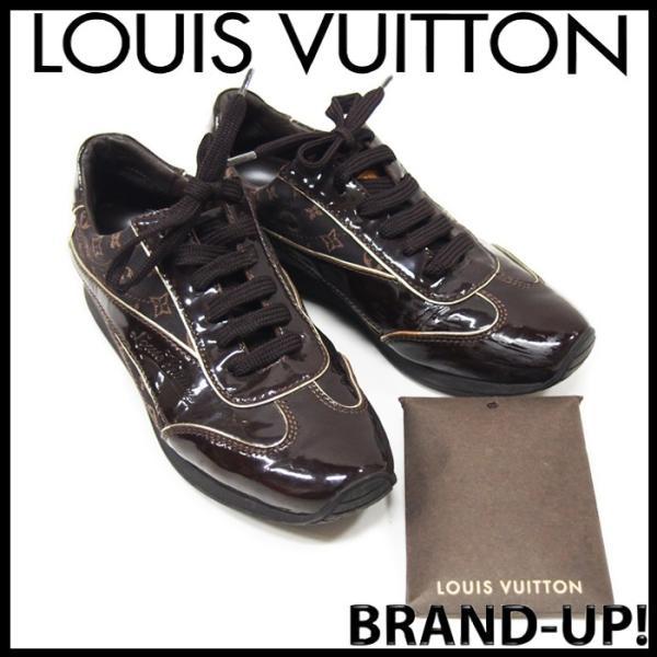 ルイヴィトン 靴 スニーカー レディース モノグラム ミニ 茶 size34 1/2 中古|lucio