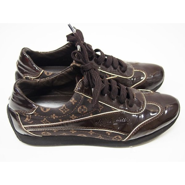 ルイヴィトン 靴 スニーカー レディース モノグラム ミニ 茶 size34 1/2 中古|lucio|02