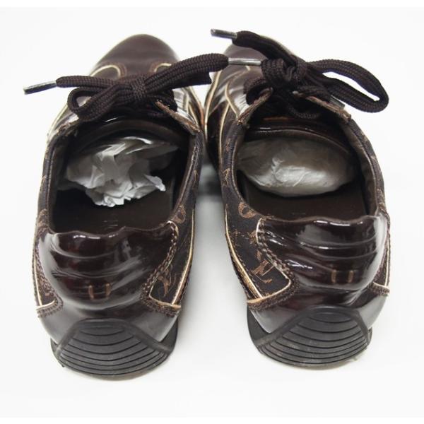 ルイヴィトン 靴 スニーカー レディース モノグラム ミニ 茶 size34 1/2 中古|lucio|03