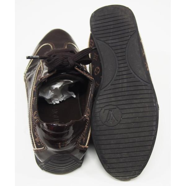 ルイヴィトン 靴 スニーカー レディース モノグラム ミニ 茶 size34 1/2 中古|lucio|04