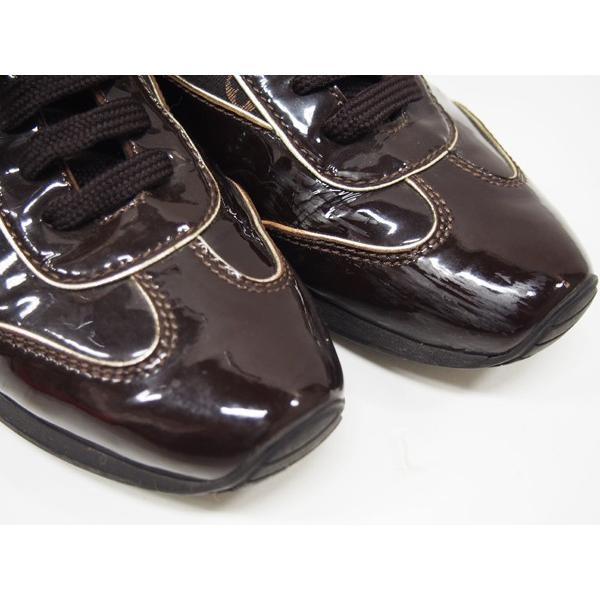 ルイヴィトン 靴 スニーカー レディース モノグラム ミニ 茶 size34 1/2 中古|lucio|05