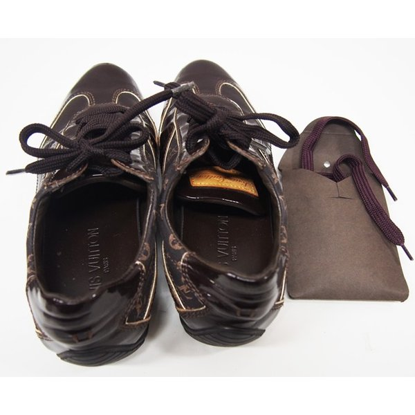 ルイヴィトン 靴 スニーカー レディース モノグラム ミニ 茶 size34 1/2 中古|lucio|06