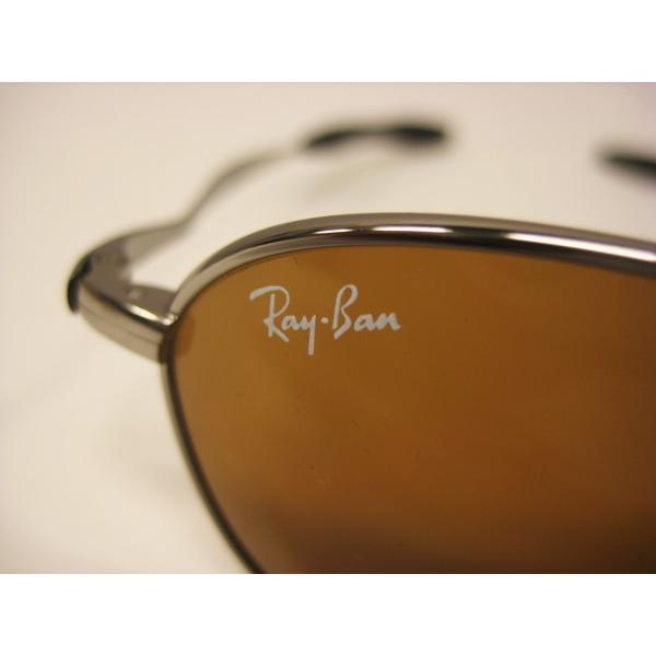 レイバン Ray Ban サングラス チタン製 タイタニウム RB8016 茶 メンズ 中古|lucio|05