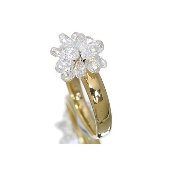 無色透明・上質ブリオレットカット ダイヤモンド4.3ct リング/指輪 K18 煌きが止まらない /白・透明(ホワイト)/セレクトジュエリー・新品/届10/