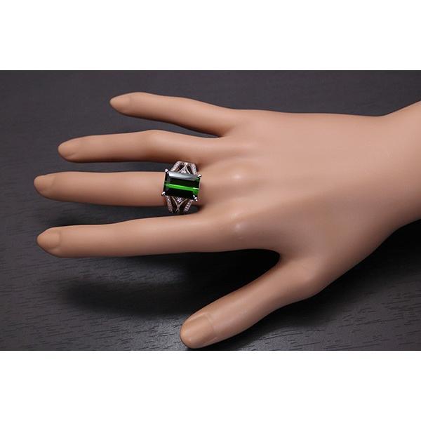 上質の美し過ぎるグリーン トルマリン 8.13カラット リング/指輪 PT900 /緑(グリーン)/セレクトジュエリー・新品/届10/