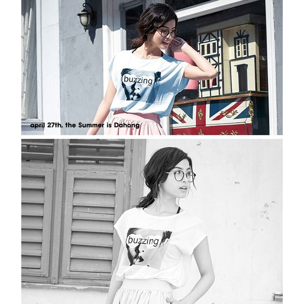 Tシャツ プリント  ロゴ入り カットソー 体型カバー ゆるシルエット 半袖 送料無料 レディース|lucky-anna|02