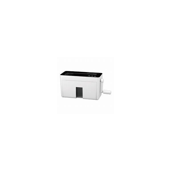 ハンドマイクロカットシュレッダー (HM04W) ホワイト 文具 シュレッダー ハンドシュレッダー 細断枚数2枚(2×10mmマイクロカット)
