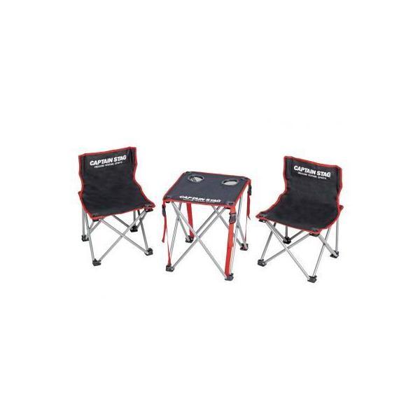 キャプテンスタッグ コンパクトテーブルチェアセット 4個販売ノベルティ 販促品  キャンプ  アウトドアレジャ