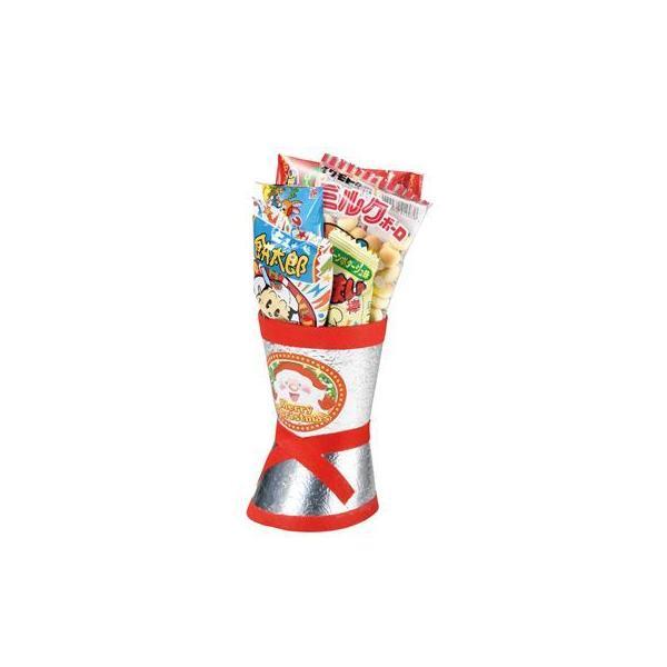 クリスマス お菓子ブーツ クリスマス銀ブーツミニ 80個セット販売  お菓ノベルティ 販促品※代引不可