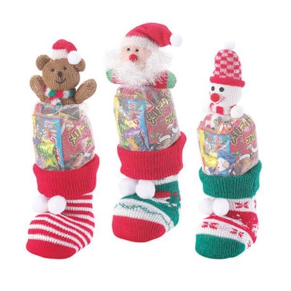 マスコットニットブーツ 3種アソート 36個販売 クリスマス プレゼント X'mas 景品 ノベルティ