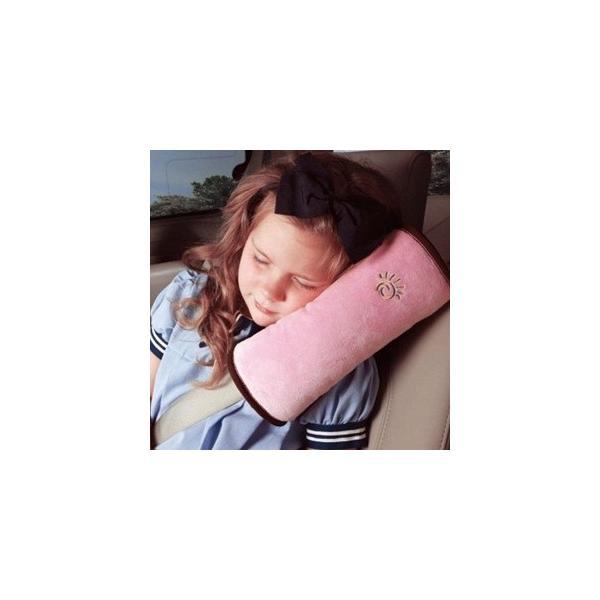 子供用 車 安全 枕 ベルトタイプ調節 起毛素材 カー 安全 まくら 枕 長時間ドライブに最適車用 まくら パッド/宅配便|lucky-shop