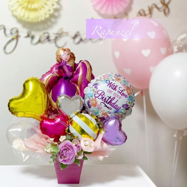 バルーン 誕生日 送料無料  ディズニー バルーンポット 女の子も選べるキャラクター|luckyducky|02