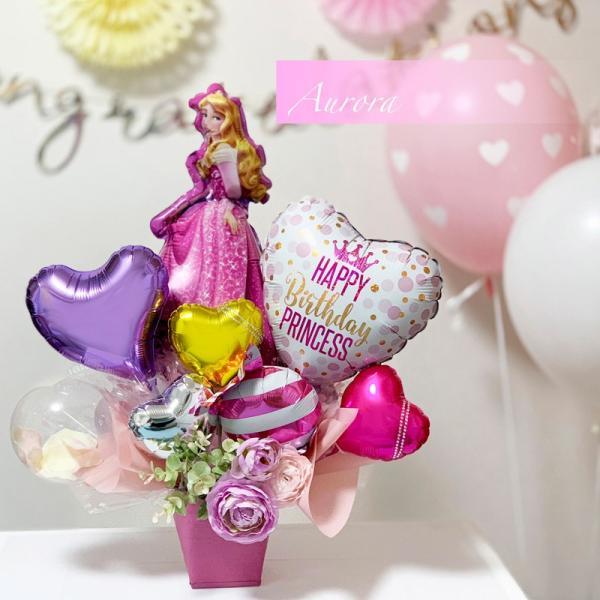 バルーン 誕生日 送料無料  ディズニー バルーンポット 女の子も選べるキャラクター|luckyducky|18