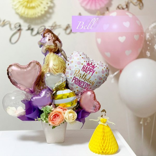 バルーン 誕生日 送料無料  ディズニー バルーンポット 女の子も選べるキャラクター|luckyducky|03