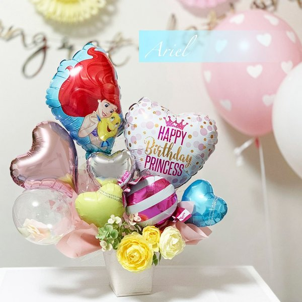 バルーン 誕生日 送料無料  ディズニー バルーンポット 女の子も選べるキャラクター|luckyducky|05