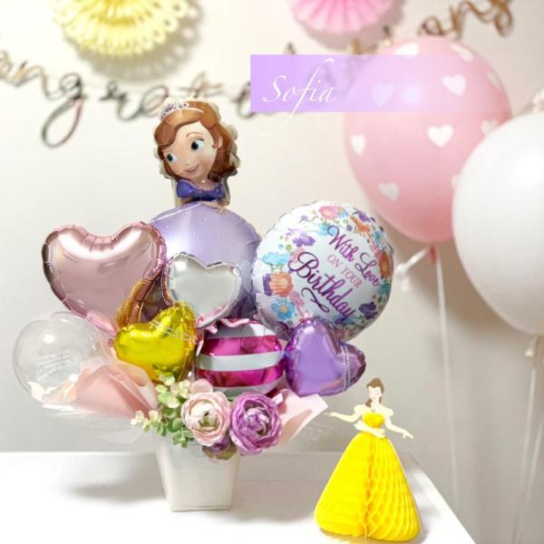 バルーン 誕生日 送料無料  ディズニー バルーンポット 女の子も選べるキャラクター|luckyducky|06