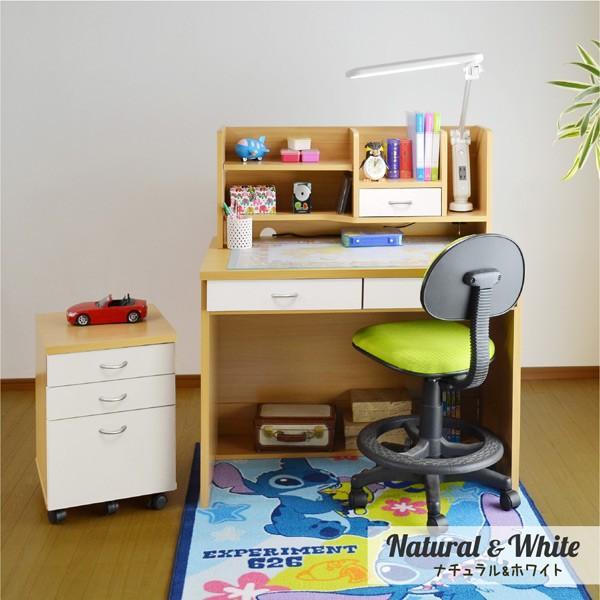 学習机 勉強机 学習デスク ララ(L型LEDデスクライト+椅子ラッキー付き)(DK203)-ART|luckykagu|06