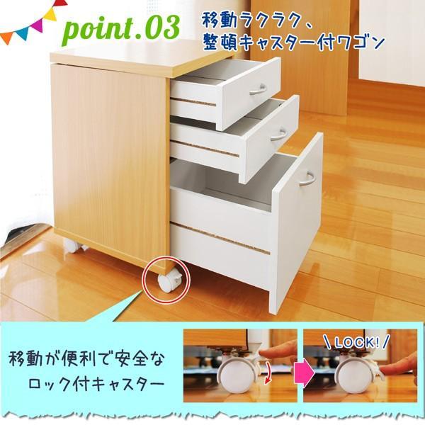 学習机 勉強机 学習デスク ララ(L型LEDデスクライト+椅子ラッキー付き)(DK203)-ART|luckykagu|10