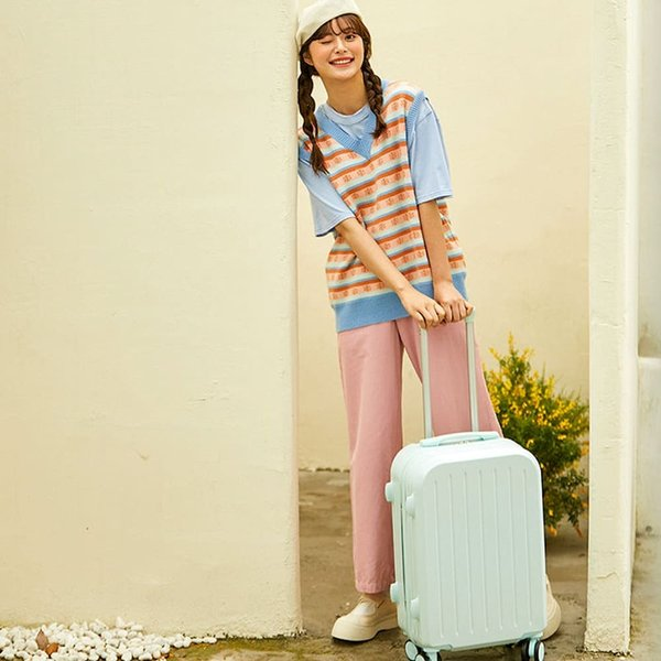 スーツケース 小型 機内持ち込み ファスナー拡張 かわいい ーバッグ sサイズ  NEWTY064|luckypanda|05