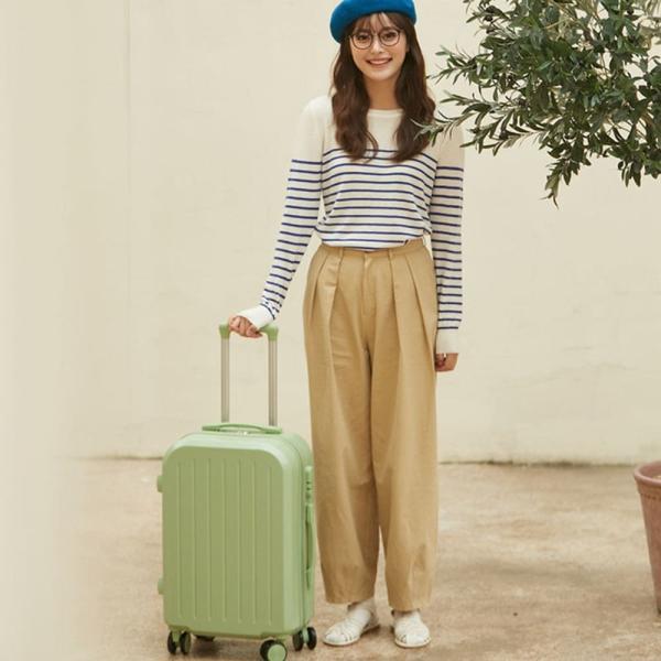 スーツケース 小型 機内持ち込み ファスナー拡張 かわいい ーバッグ sサイズ  NEWTY064|luckypanda|06