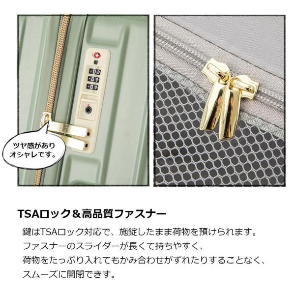 スーツケース 中型 軽量 TSAロック 旅行用 キャリーバッグ 旅行かばん キャリーケース おしゃれ 超軽量 トランク TSA 旅行バッグ MS017-IS-M luckypanda 04