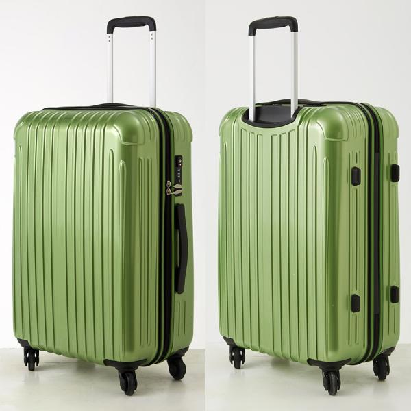 abb7573b8b ... スーツケース Mサイズ 軽量 2年間修理保証付き 中型 キャリーバッグ キャリーケース 鏡面 ...