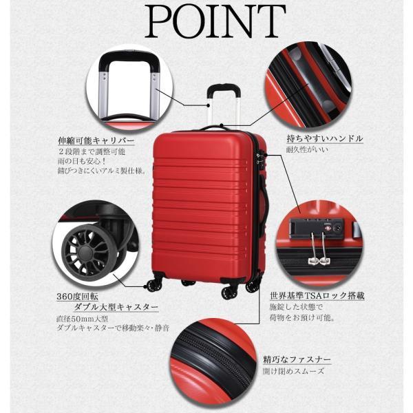【クーポン利用で最大8%OFF】スーツケース m 中型 軽量 おしゃれ キャリーケース キャリーバッグ m サイズ 旅行 バッグ|luckypanda|03
