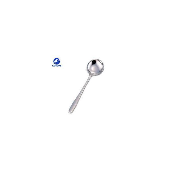 カンダオリジナル 18-8 モナカ中華スープスプーン 454076 (カトラリー・ステンレス製・中華用品・カンダ)