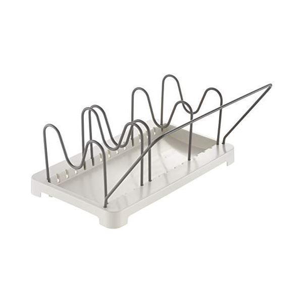 システムキッチン引き出し用整理ケース/キッチン収納〔鍋フライパンスタンド〕持ち手受け付き『トトノ』