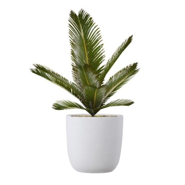 ファイバークレイ製 軽量 大型植木鉢 バスク ラウンド 43cm ホワイト|luckytail|02