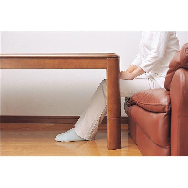 リビングこたつテーブル 本体 〔長方形 80cm×120cm〕 高さ3段階調節可 木製脚 フレーム 〔和室 洋室〕〔代引不可〕
