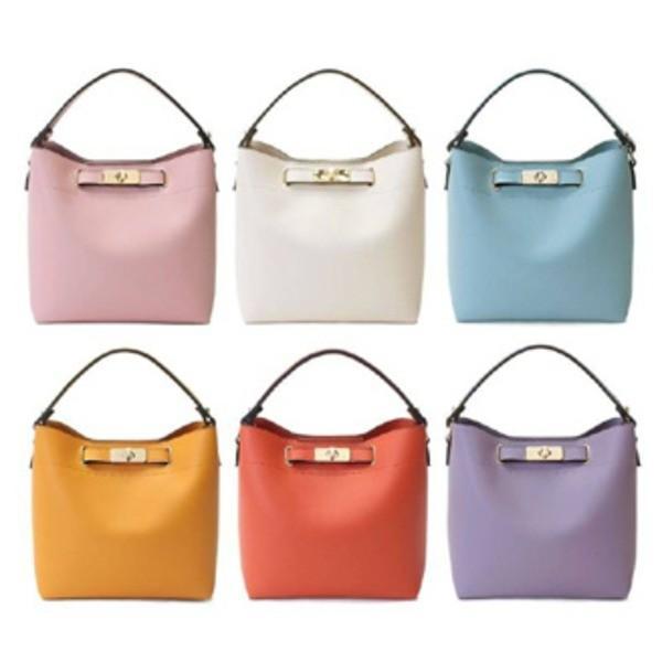 全6色 短めにも斜め掛けにも使いやすいシンプルショルダーバッグ/ダークオレンジ