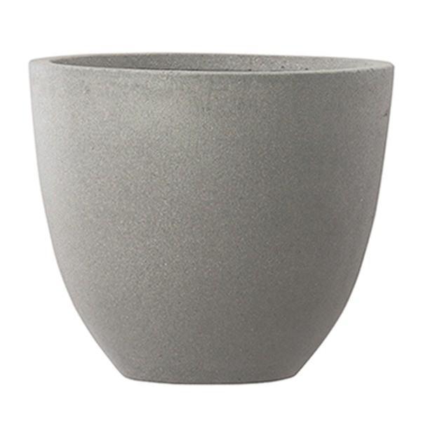 ファイバーセメント製 軽量植木鉢 スタウト アッシュラウンド 60cm 大型植木鉢|luckytail