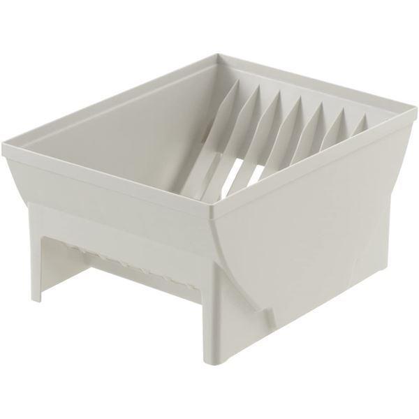 システムキッチン引き出し用整理ケースディッシュスタンド/お皿立て〔Lサイズ〕約28×21×14cmトトノ〔キッチン台所〕