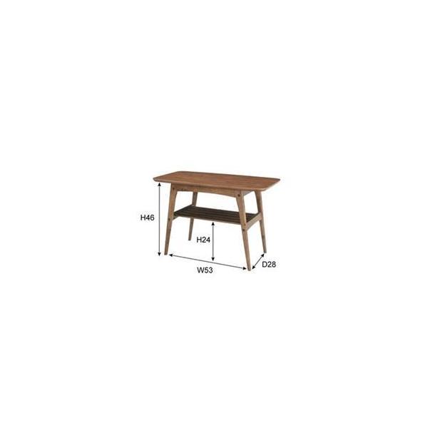 コーヒーテーブルS 〔Tomte〕トムテ 木製(天然木) 棚収納付き TAC-227WAL|luckytail|02