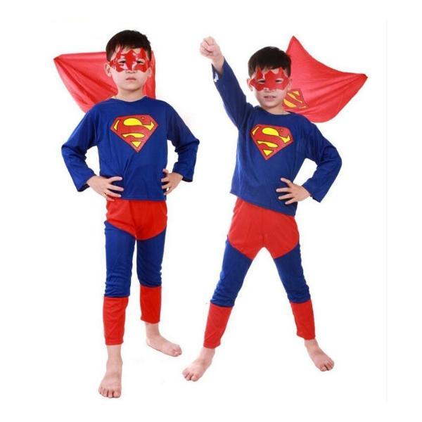 送料無料 スパイダーマン バットマン スーパーマン コスプレ キッズ パーティ イベント LKD-04|ludas|03