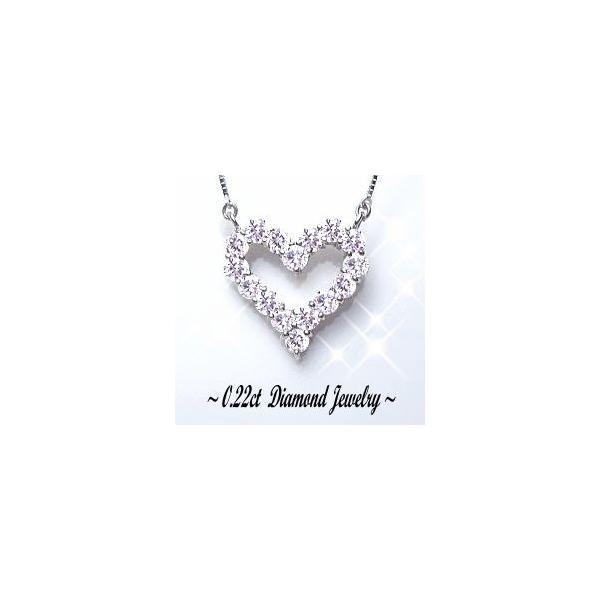 ペンダントネックレス 大特価 K18YG PG WG 0.22ct ダイヤモンド オープンハート ペンダント ネックレス TiaraHeart SIクラス 透明感溢れる輝き